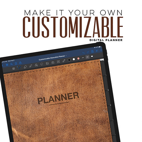 Masculine Customizable Planner