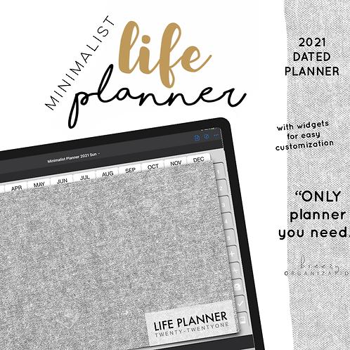 2021 Minimalist Life Planner | Mon + Sun