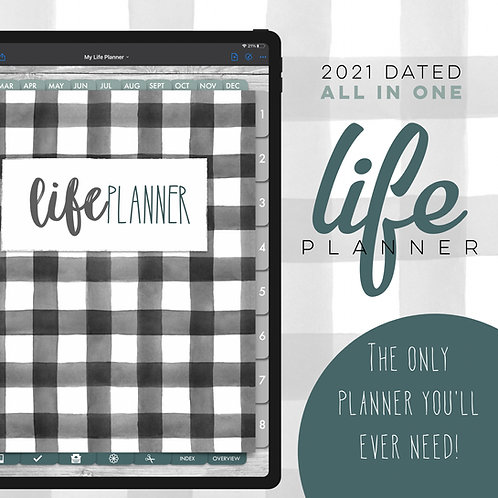2021 Dated Weekly Life Planner - Farmhouse