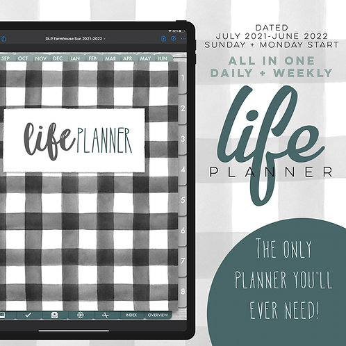 2021-2022 Dated Daily Life Planner - Farmhouse