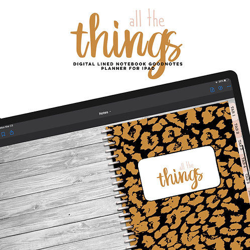 All The Things Notes Planner