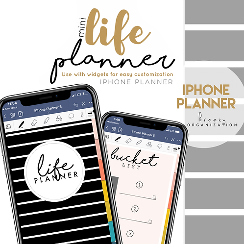 iPhone Digital Planner Striped