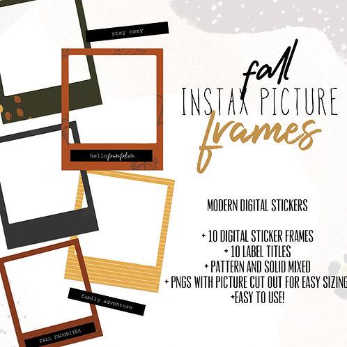 Fall Instax Frames
