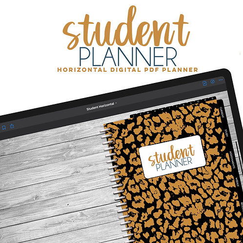 Student Planner   Horizontal 2-Page