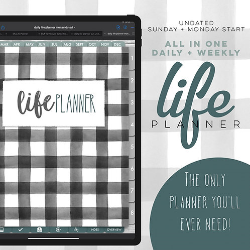 Undated Daily Life Planner - Farmhouse