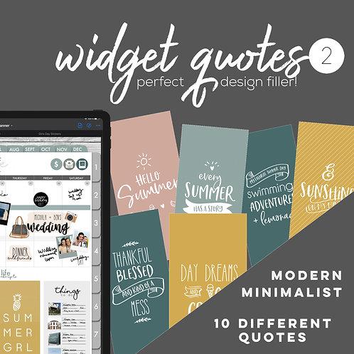 Widget Quotes 2 (summer)