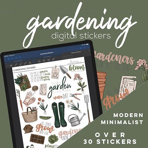 Gardening Digital Stickers