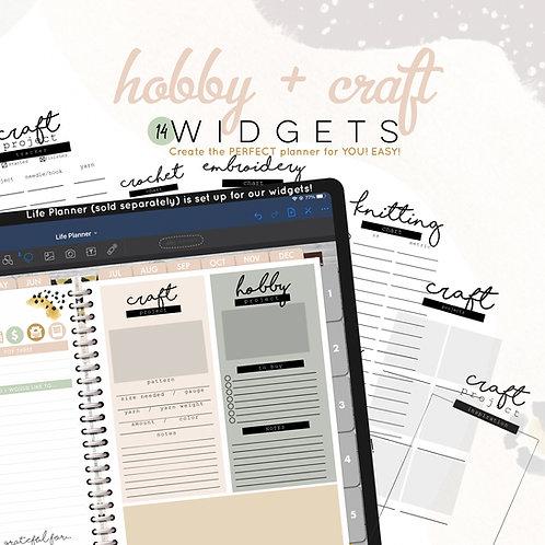 Hobby + Craft Widgets