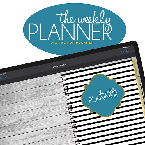 Undated Planner | Weekly + Monthly