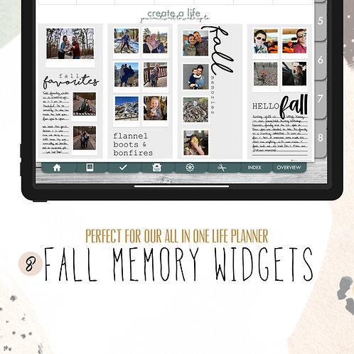 Fall Memory Widgets