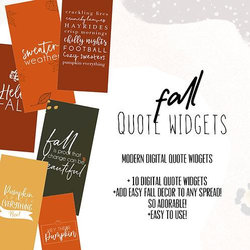 Fall Widget Quotes