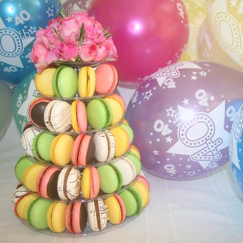 Large Macaron Floral Gift Arrangement
