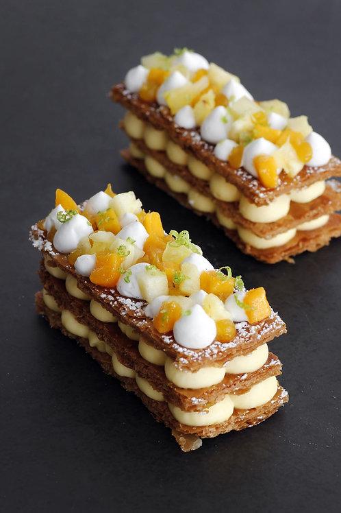 Orange and Vanilla Mille Feuille