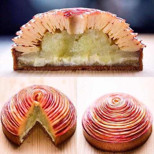 Pink Lady Apple and Custard Tart