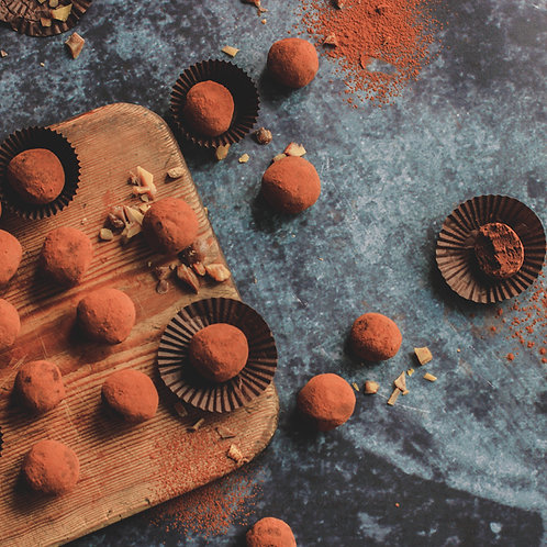 Salted Caramel Dark Chocolate Truffles