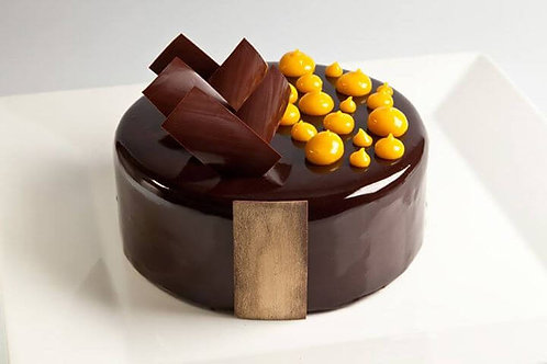 Passion fruit and Dark chocolate Gateaux