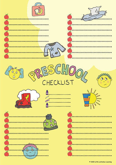 Preschool Checklist