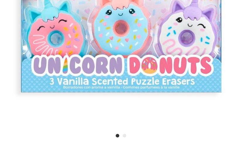 Magic Bakery Unicorn Donuts Scented Erasers - Set of 3