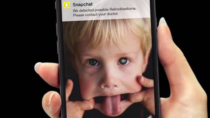 Ação cria filtro do Snapchat que diagnostica câncer no olho