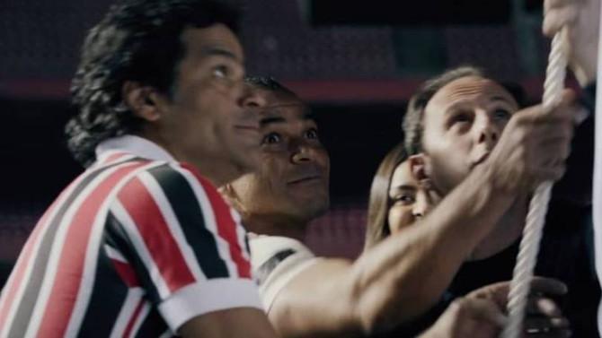 São Paulo escala ídolos do gramado em novo filme