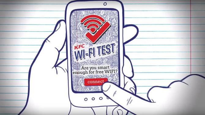 KFC cria Wi-Fi que só é liberado após testes de conhecimento