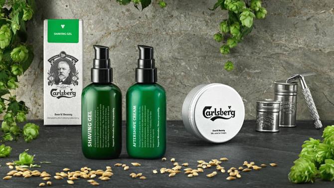 Carlsberg lança novos cosméticos com cerveja para homens