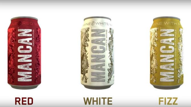 Marca cria 'vinho para homens' que vem em lata