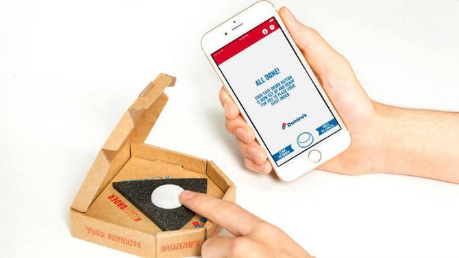 Agora é só apertar um botão para receber pizza em casa