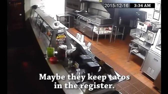 """Restaurante """"aproveita"""" assalto para criar comercial"""