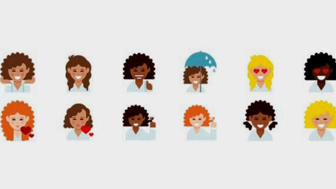 Dove lança emojis de cabelos cacheados nos Estados Unidos