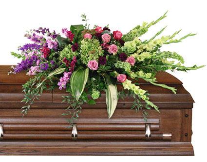 Calming Memories casket spray
