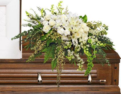 Garden Elegance casket spray