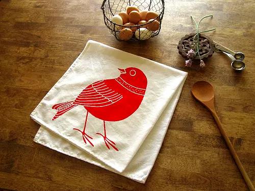 Bird Kitchen Tea Towel