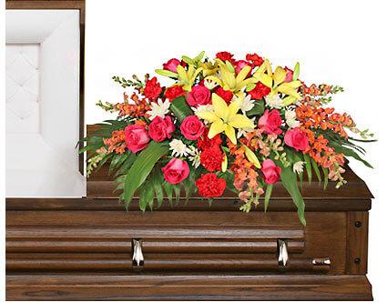 In Loving Memory casket spray