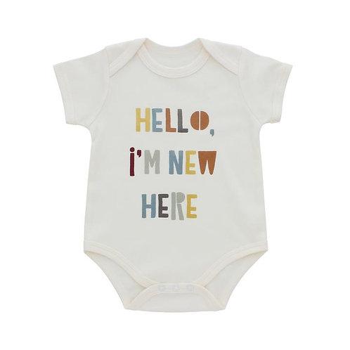 Hello I'm New Here Baby Onesie