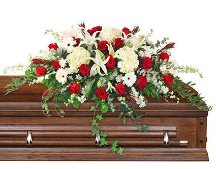 Peace Always casket spray