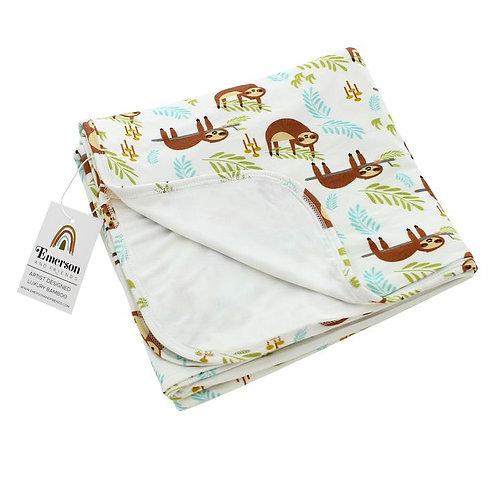 Sloth Luxury Bamboo Baby Blanket