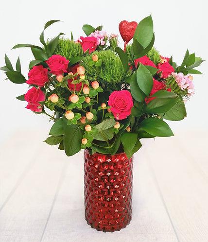 Hearts arrangement