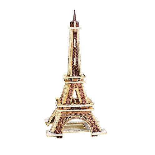 Eiffel Tower 3D architectural wooden puzzle