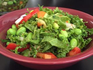 Chopped Kale Thai Salad with Basil