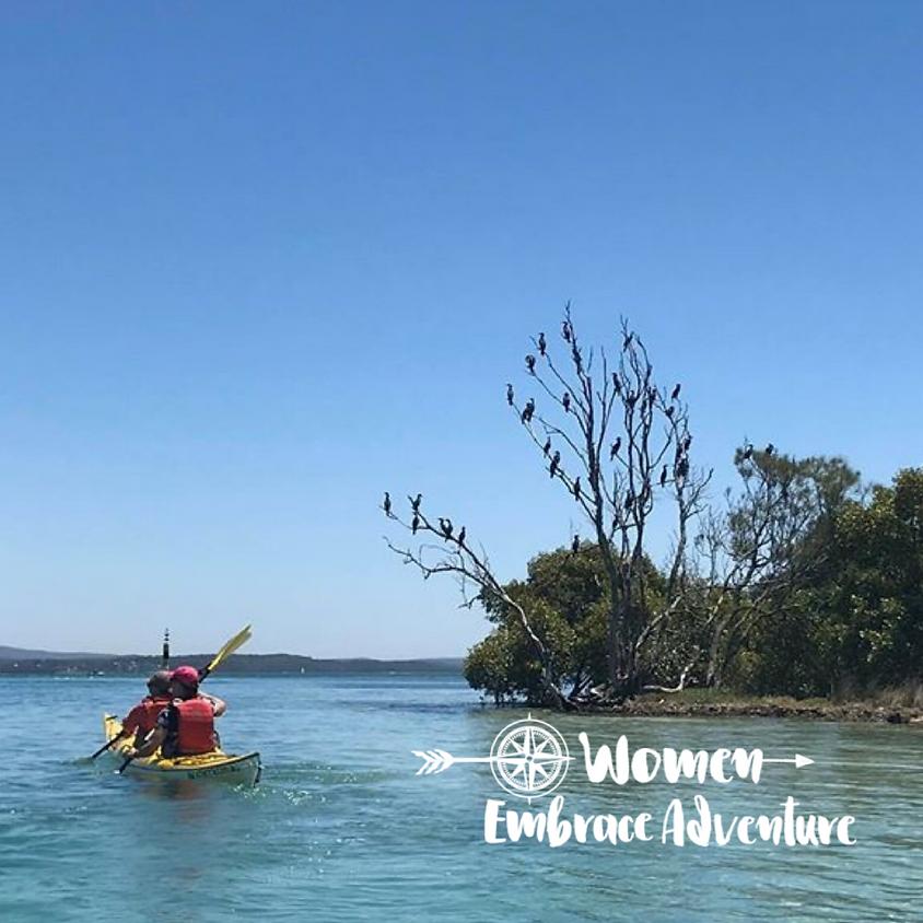 Women Embrace Kayaking Lake Macquarie