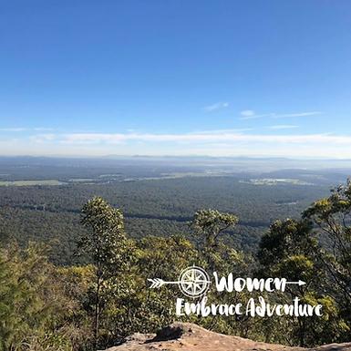 Women Embrace Hiking Mt Sugarloaf NSW