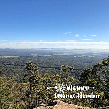 Women Embrace Hiking Mt Sugarloaf NSW