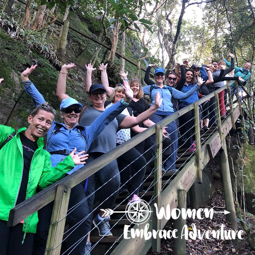 Women Embrace Hiking Glenrock NSW