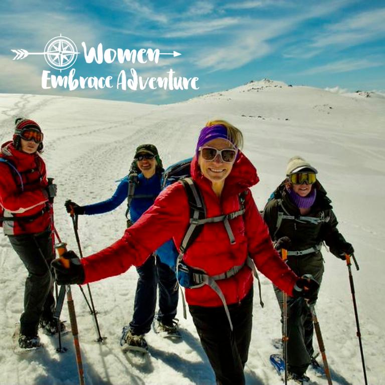 Women Embrace Snowshoeing - Koscuiszko National Park