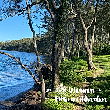 Women Embrace Walking Myuna Bay Lake Macquarie