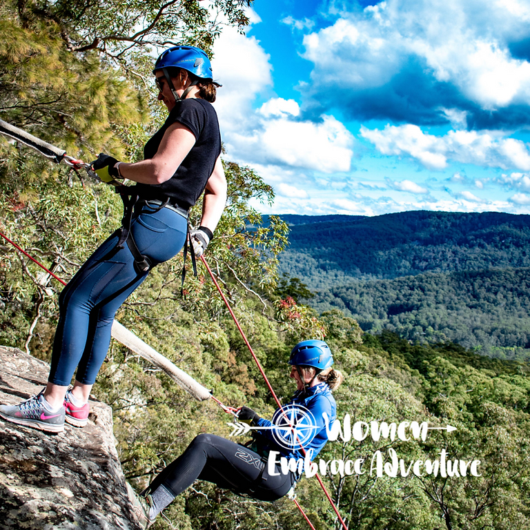 Women Embrace Abseiling and Simple Canyoning - The Watagans  NSW