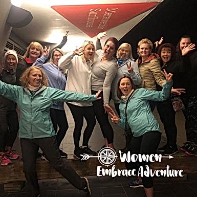 Women Embrace Newcastle Evening Walk, Wine and Pizza