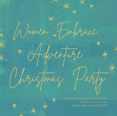Women Embrace Adventure Christmas Party