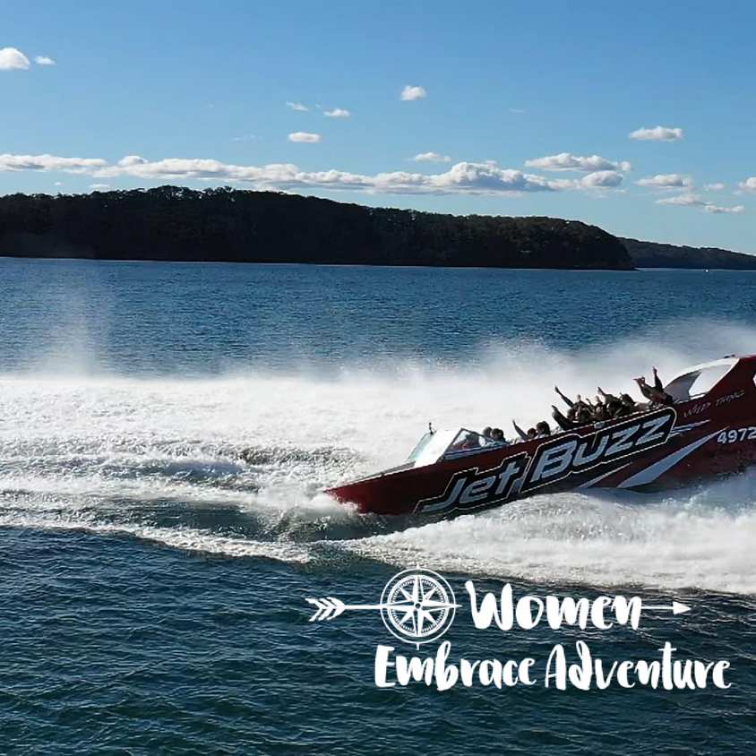 Women Embrace Jet Boating, Bubbles and Lunch